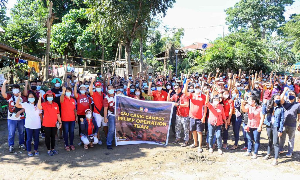 Cagayan State University students organized for road show creating awareness