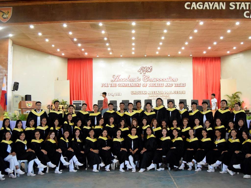 Graduation ceremony in CSU