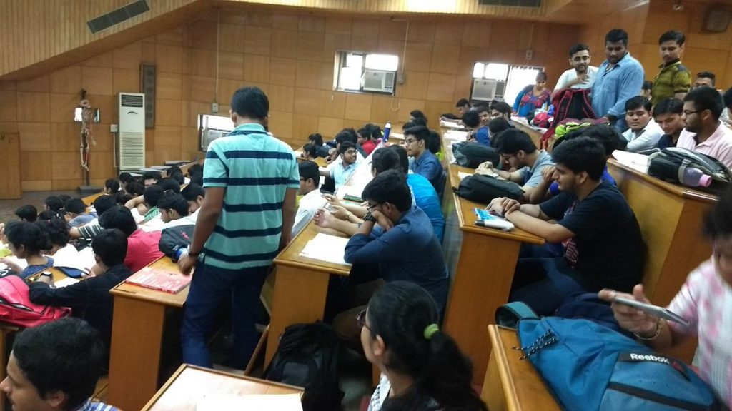 Government Medical College students in their classrooms